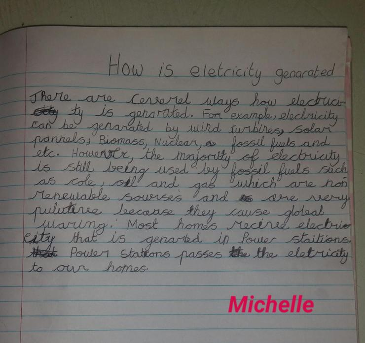 Electricity work from Michelle