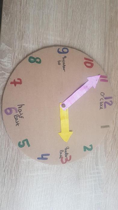 Marika's home made clock.