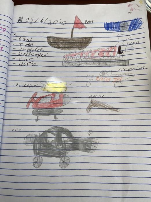 Scarlett's topic work on transport types