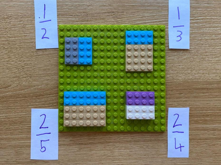 Nadia used LEGO to help with fractions