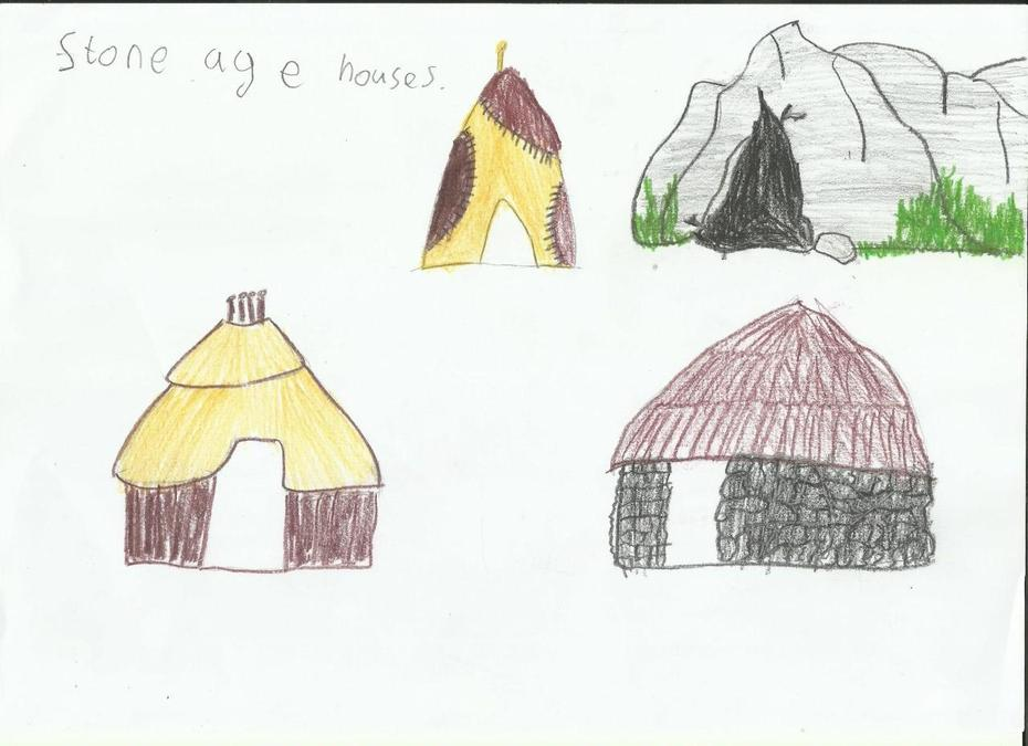 Stone Age houses by Oliwia