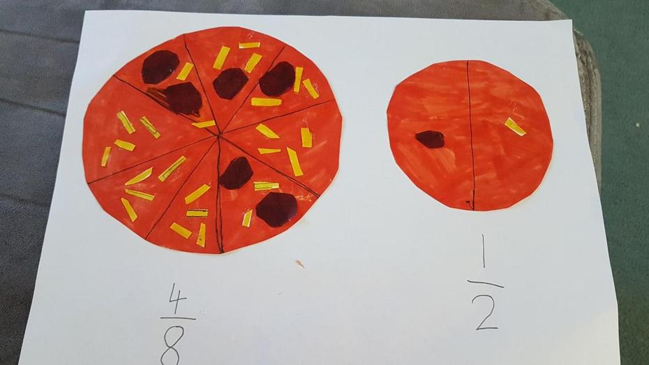 Fraction pizza by Marika