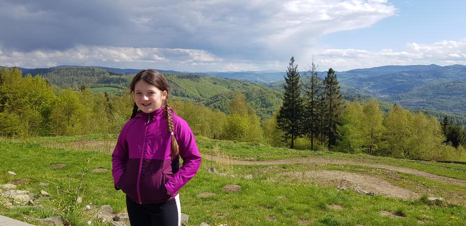 Zuzanna at the mountains in Poland