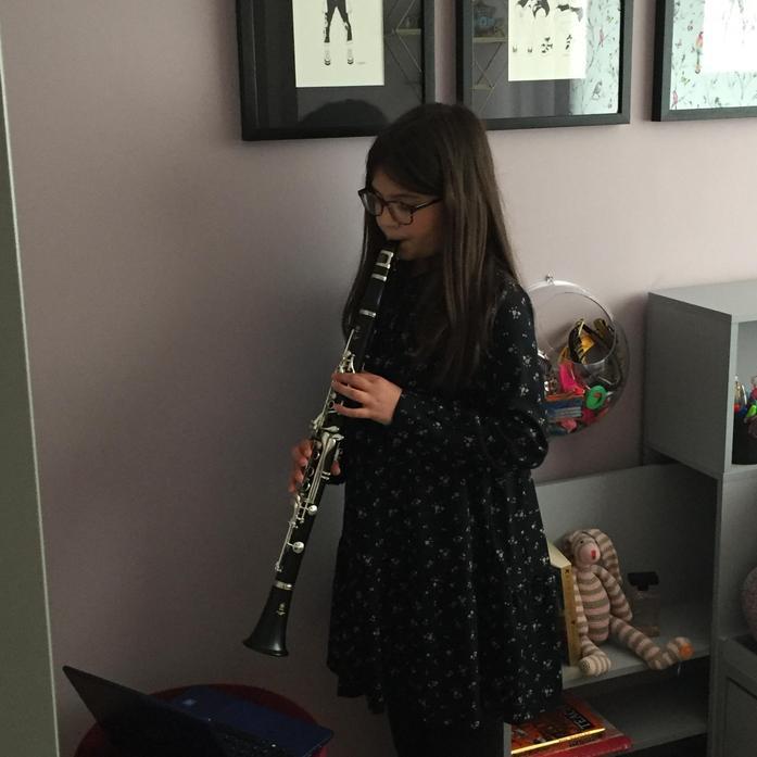 Maya and her clarinet