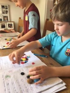 Oliver and William busy with fractions