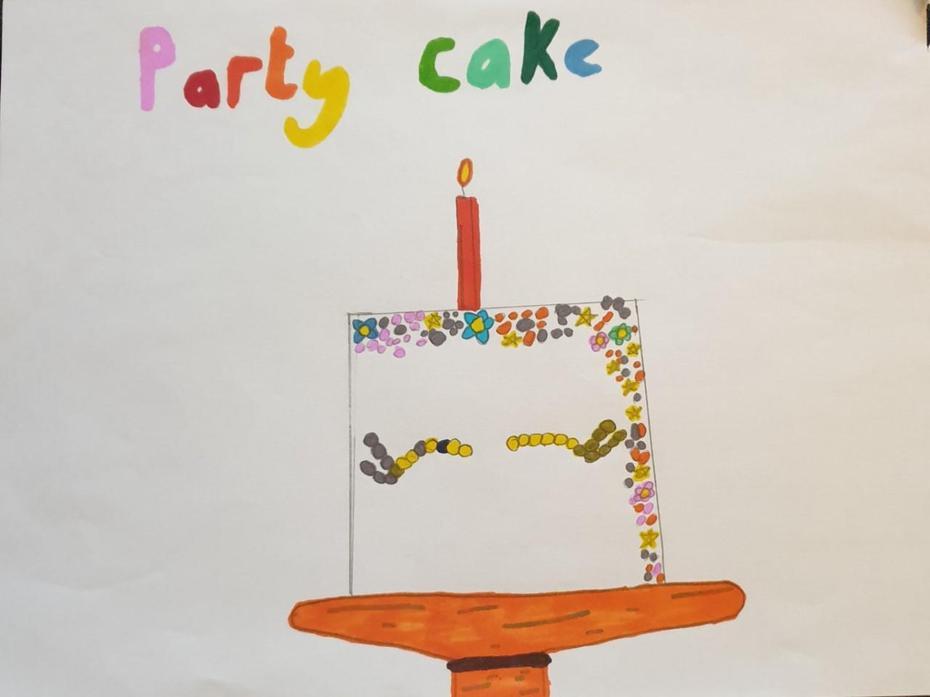Ewa drawn her birthday cake