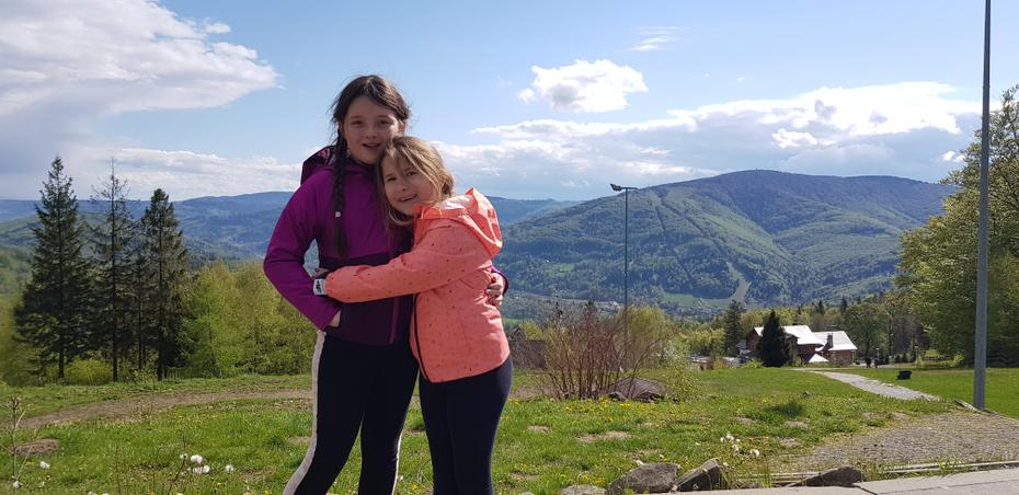 Zuzanna and her sister at the mountains in Poland