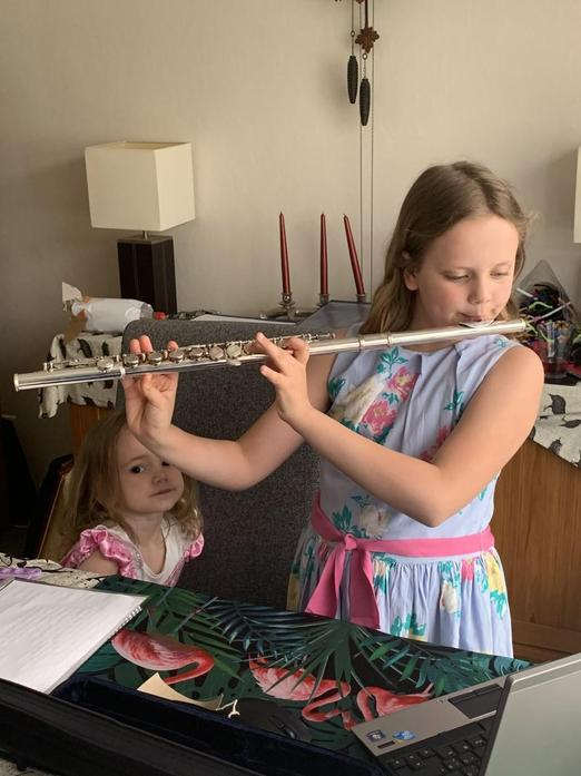 Grace on the flute