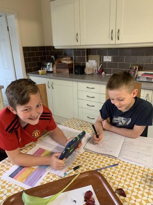 Joe and Jacob busy working