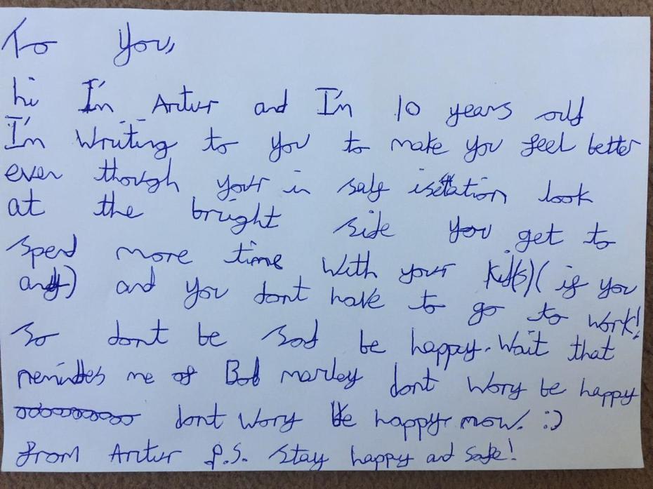 Artur's letter