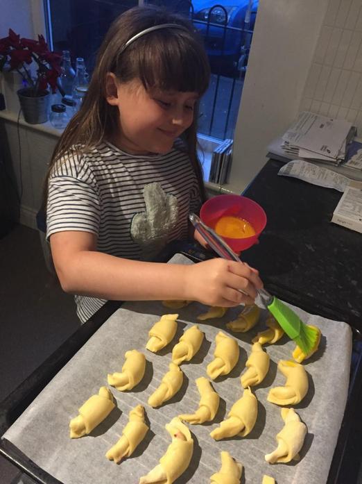 Aleksandra cooking