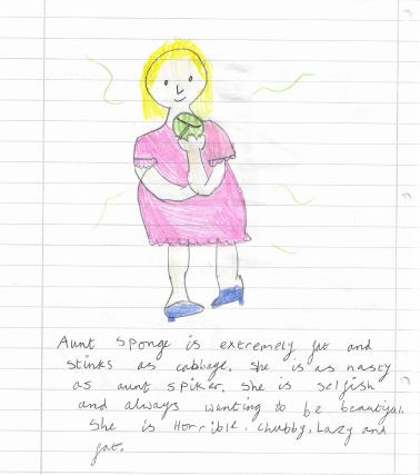 Zuzanna's character description of Aunt Sponge