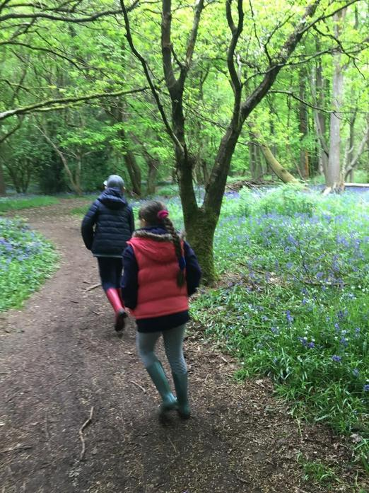 Aleksandra and Arthur on a walk 2