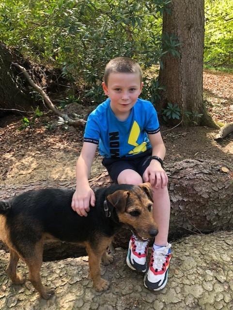 Reuben and his dog