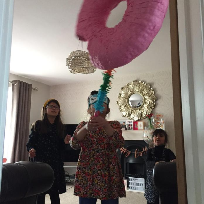 PINATA Neve celebrating Maya birthday