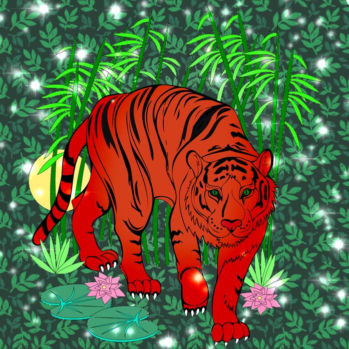 Aleksandra colouring tiger