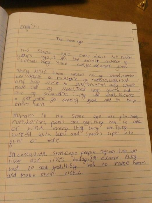 James' Non-Chronological report on The Stone Age