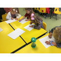 We timed ourselves to see how many numbers we could write in a minute.