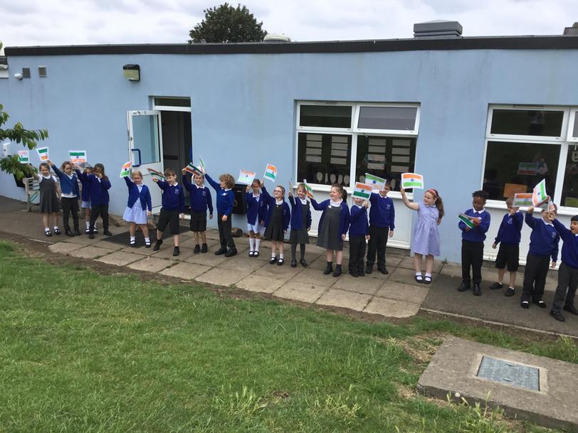We enjoyed waving our flags and celebrating the start of International Week