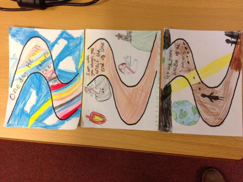Olivia, LaRae and Ella decorated their favourite line from the Gospel