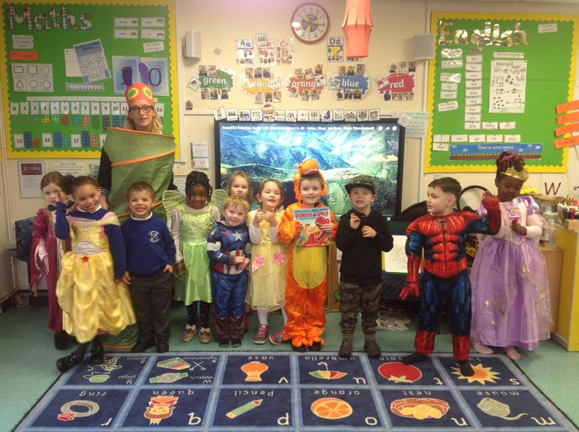 We all dressed up as our favourite characters from our favourite stories and books.