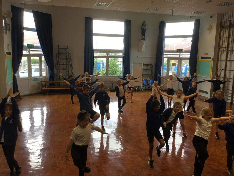 The children loved learning some Indian dance moves