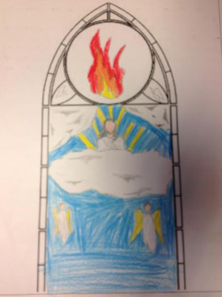 Isaac included fire to represent the Holy Spirit