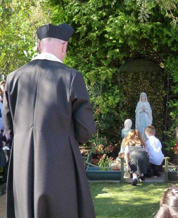 Father Peter Madden blesses our Prayer Garden