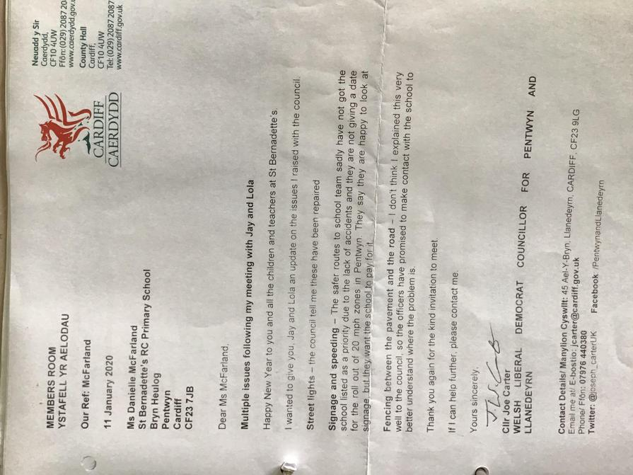 Correspondence from Council