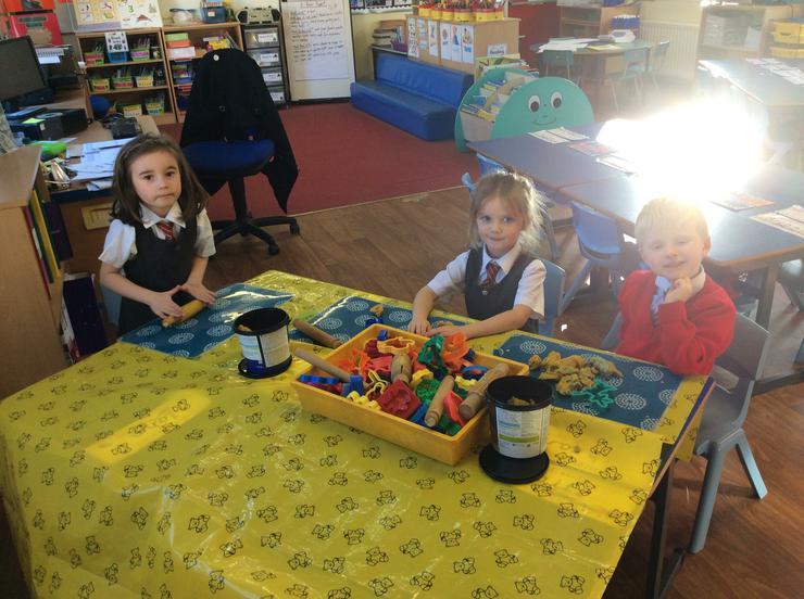 Making fairytale characters using playdough