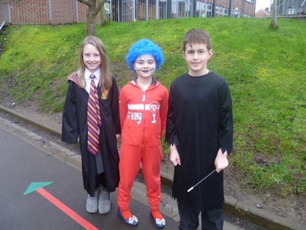 Hermoine, Thing 1 and Harry Potter