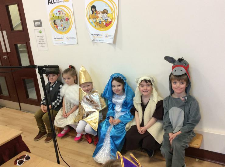 Dad, Mum, Leo, Mary, Joseph & Little Donkey!