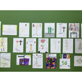 Artwork of Fr Armstrong by pupils