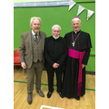 Mr McTaggart, Fr. Armstrong and Bishop Treanor