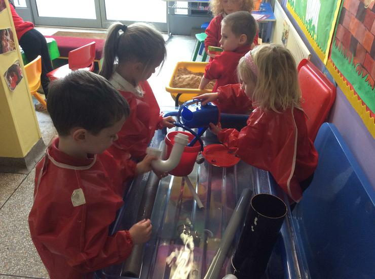 Water spout fun with incy wincy spiders