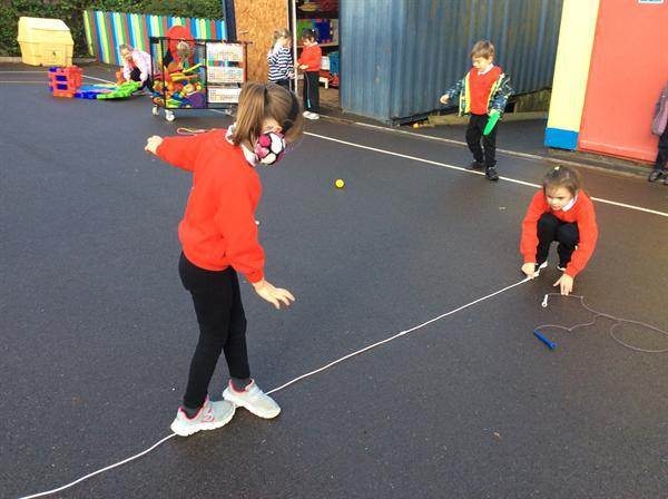 Using our imaginations to practice circus skills