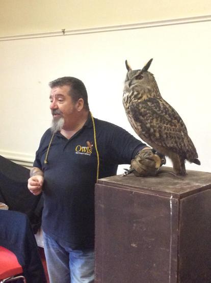 We met a huge eagle owl