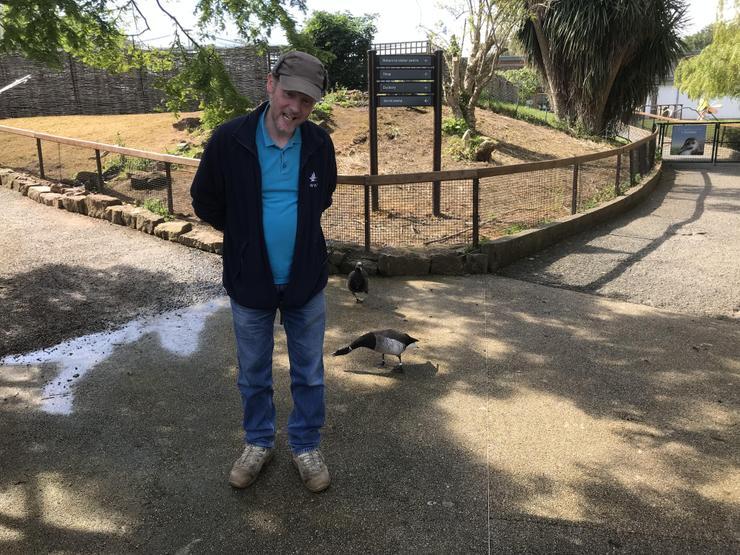 John showing us the grumpy duck!