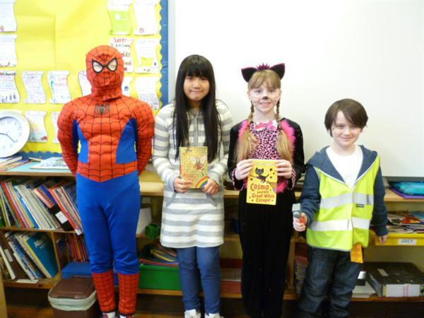 Spiderman, Kirsty, Cosmo & Emmett!