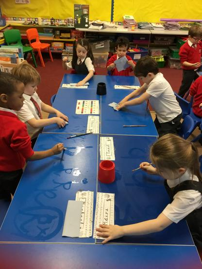 We had lots of fun writing our 'k's