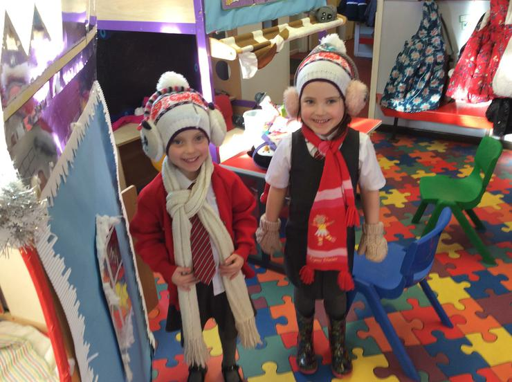 Dressing up in the Winter Shop