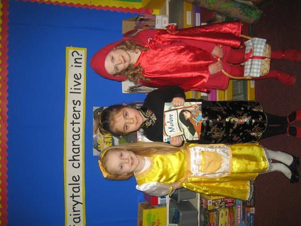 Goldilocks, Mulan and Little Red!