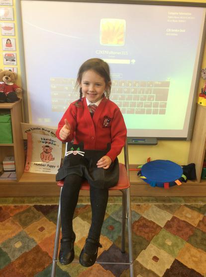 Clodagh showed us her black Halloween cat