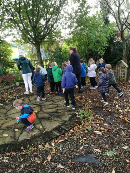 The sensory garden had lots of leaves