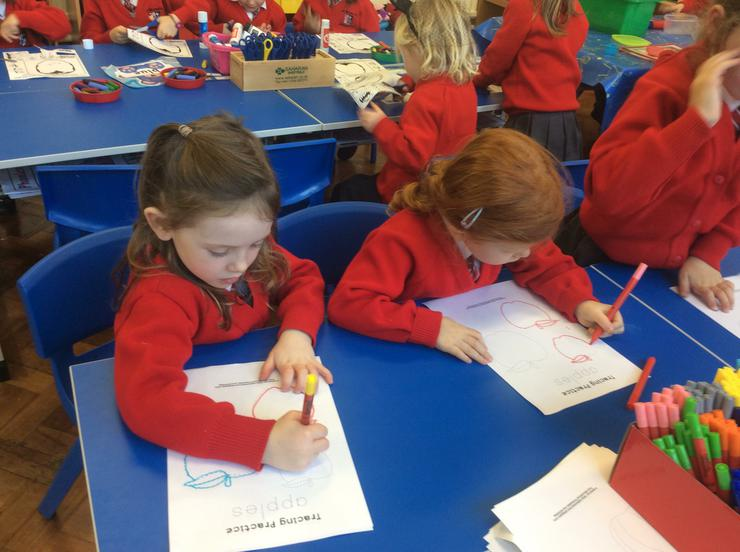 Practising our tracing