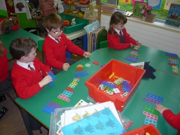 We used numicon to explore subtraction