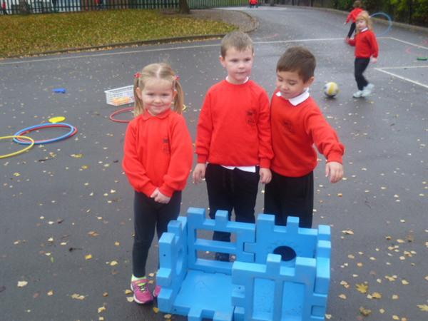 We are making a blue cuboid