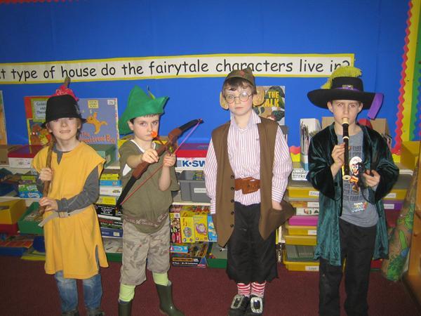 Dick Wittington, Robin Hood, Rumpelstiltskin and T
