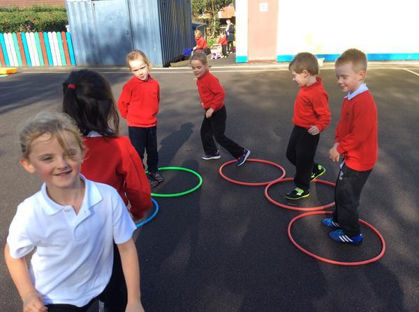 Enjoying playground games