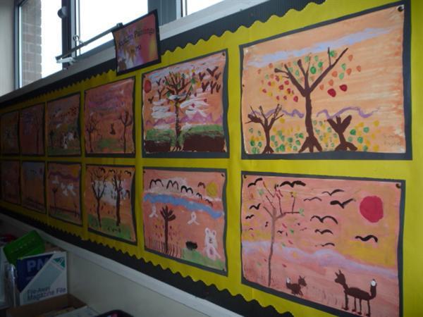 Autumn paintings.